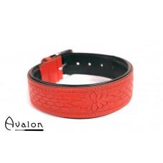 Avalon - JOURNEY - Collar med nydelig mønster - Rødt og Sort