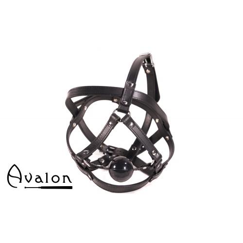 Avalon - TRAPPED - Hodeharness i lær med gag