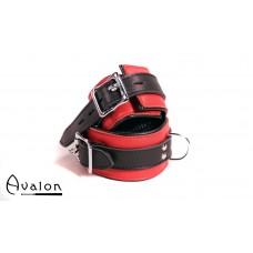 Avalon - CAPTURE - Håndcuffs i Lær - Rød og Sort