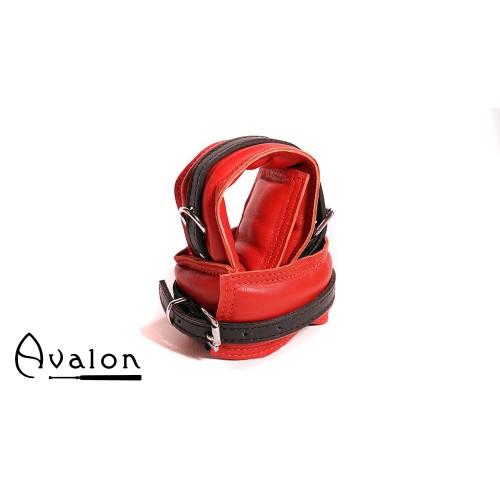 Avalon - ENSNARE - Polstrete Ankelcuffs Rød og Svart