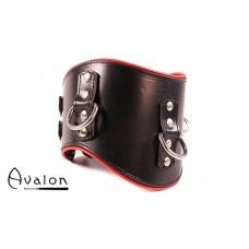 Avalon - CORRUPT - Bredt Collar med god polstring, Svart og Rødt