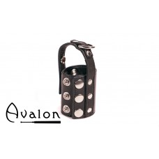 Avalon - STRETCHED - Ballestrekker i lær med D-ring Sort
