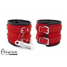 Avalon - CONTROL - Ekstra brede Fotcuffs Rød og Svart