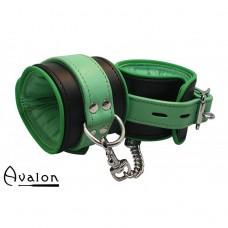 Avalon - Sengekos - Alchemy - Polstrede Håndcuffs - Sort og Grønn