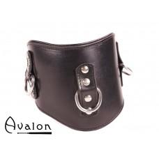Avalon - CORRUPT - Bredt Collar med god polstring, Svart