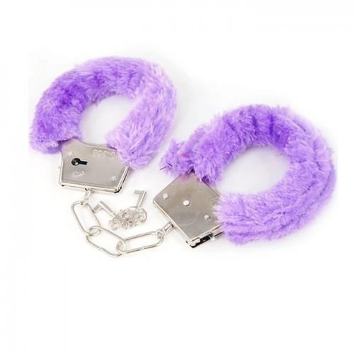 Erotisk - Håndjern med lilla plysj
